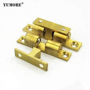 2017 new furniture hardware brass cupboard ball roller magnetic door catch
