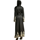 Wholesale Women Abaya Long Dress Robe Kfran Dress Islamic Clothing New In Dubai Black Colors Abaya