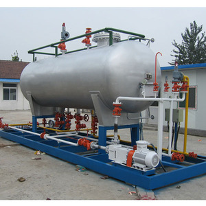 2.5MT skid mounted mobile lpg gas filling station with 5m3 lpg tank