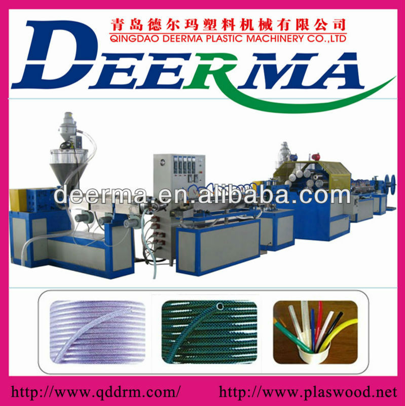 PVC hose make machine/PVC hose extruder /pvc three layer pipe production line