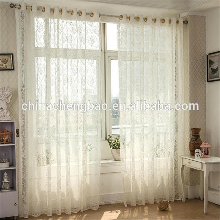 Floral Embroidered Home Goods Sheer Curtain Wholesale