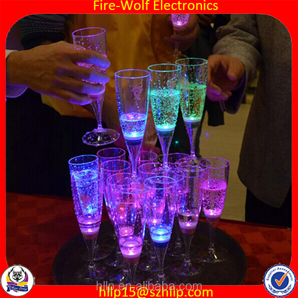 Fire wolf China factory suppy Bar/nightclub pub led flashing cola cup,Wholesale led light cup