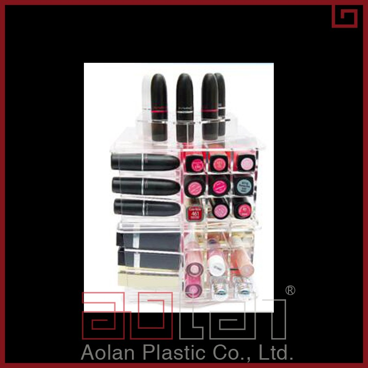 2018 Acrylic Spinning Lipstick Tower Rotating plexiglass lipstick tower