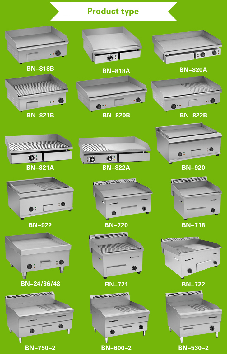 Cosbao names of kitchen equipments restaurant equipment 900 600 view - Commercial Electric Flat Griddle Double Burners Hot Plate 735mm Countertop Grill Stainless Steel