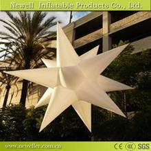 Hot sale illuminated decoration inflatable star in good quality