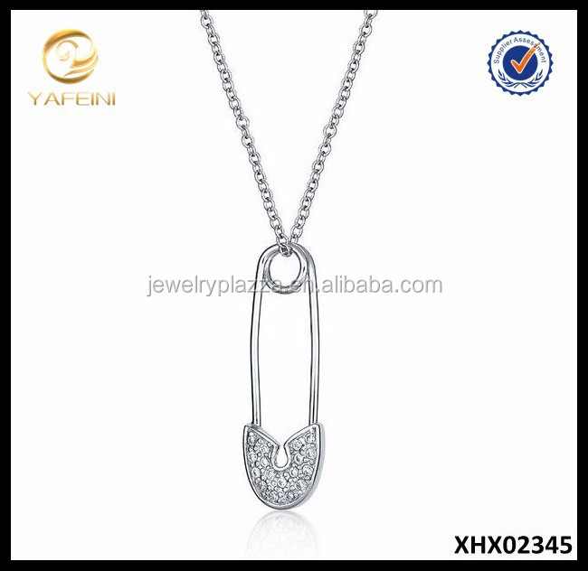 Pin It On Pendant Solid 925 Sterling Silver Necklace Wholesale Jewelry