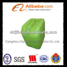 light green water packing plastic barrel