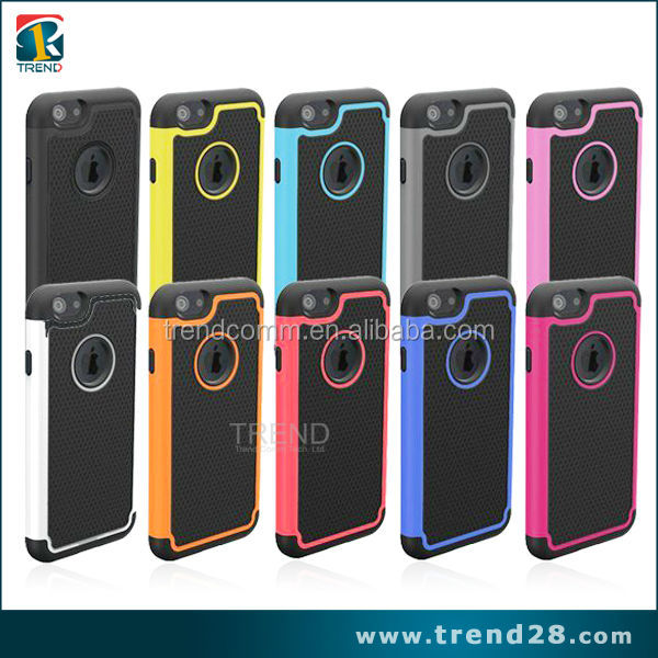 logo hole outdoors tpu pc hybrid case for iPhone 6 6s