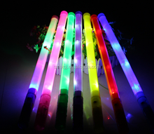 Hot selling Neon Color LED Flashing Glow Tube Wand Stick LED Light Sticks (Long 48 CM)