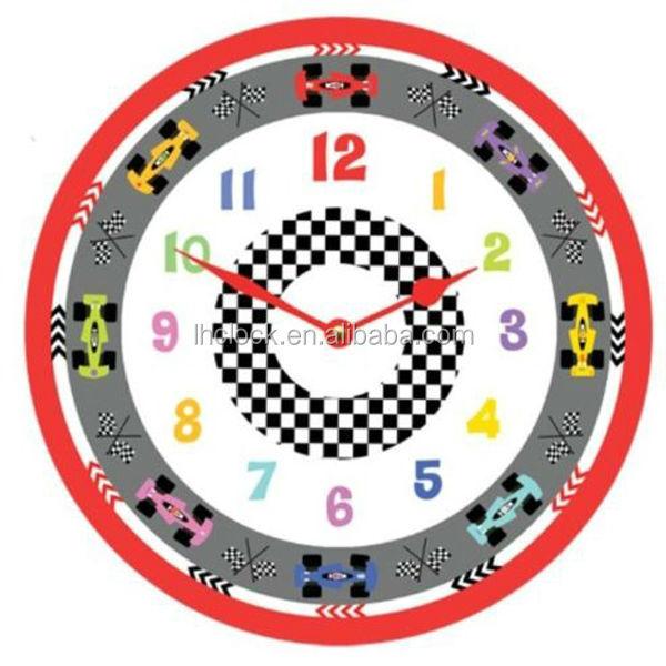 racing car wall clock cute clocks children s room ideal boys