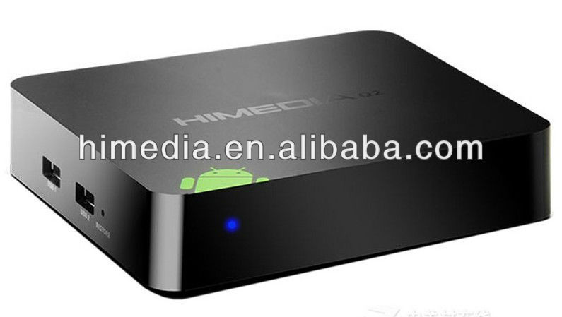 Arm Cortex A9 HiMedia Q1 Android Arabic TV box with India channel