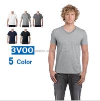 2017 OEM blank men v neck t shirt solid plain t shirt wholesale t-shirt custom logo