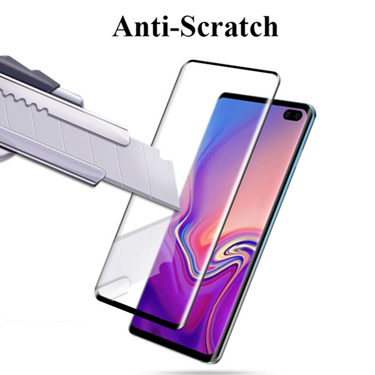 6D full cover tempered glass screen protector guard for samsung s10 s10 plus