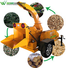 Weiwei forestry machine mobile branch shredder green prunch palm crusher mini trees cutting price wood splitter