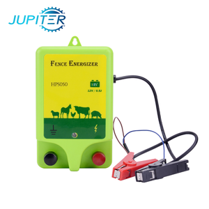 Plastic waterproof green 2j electric fence solar energizer for 19km