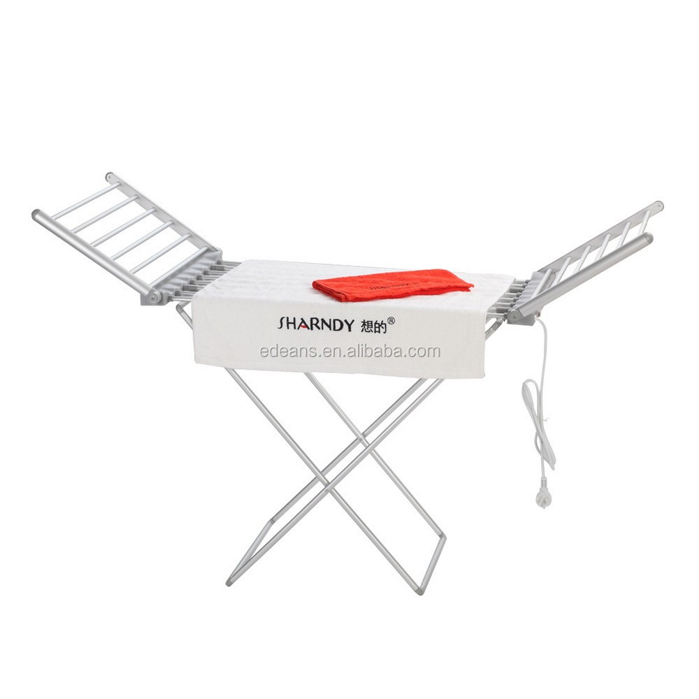 Foldable Heated Clothes Airer with Wings, clothes dryer rack
