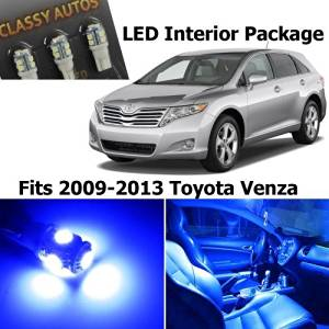 Classy Autos Toyota Venza Blue Interior LED Package (8 Pieces) by Classy Autos