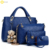 ladies body cross bag luxury composite women bags pu leather handbags set