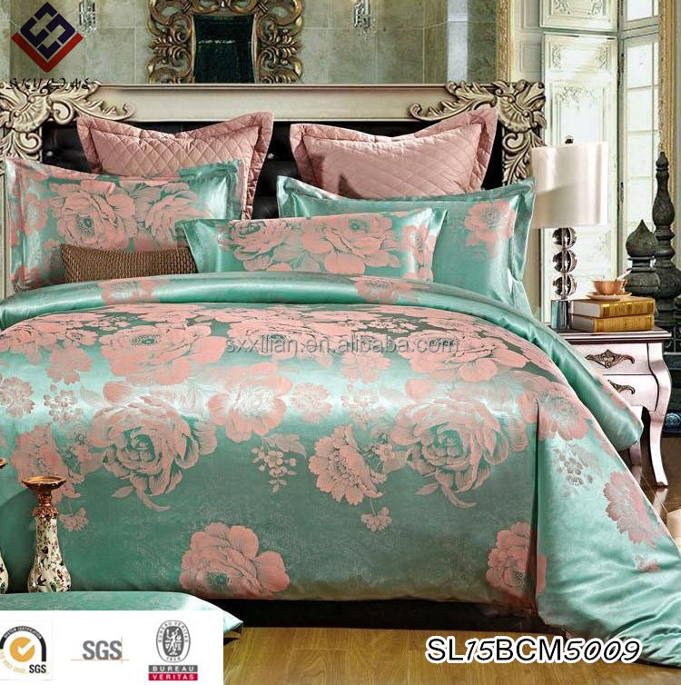European and American style jacquard duvet cover bed sheet bedding set