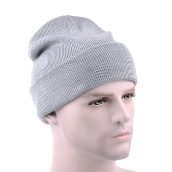 3d165bf2ed2f1 Customized grey plain blank china beanies teenagers knitted hats wholesale
