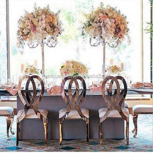 Gold Infinity Wedding Chair with Stainless steel wedding chair furniture sales