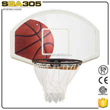 pp plastic basketball backboard with basketball ring