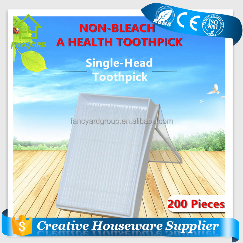 FY2015 Plastic Toothpick/ New Product Cheap Portable Dental Plastic Toothpick