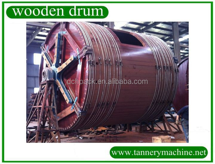 wet blue cattle hides small capacity leather milling wooden drum