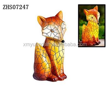 Hot Sale Solar Led Fox Garden Statue