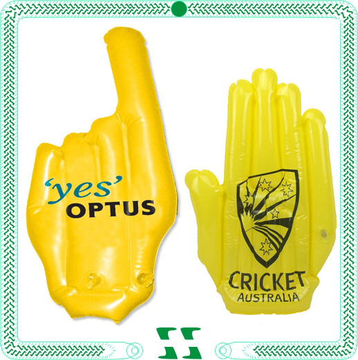 Custom Cheering PVC Inflatable Hand Shaped Toy