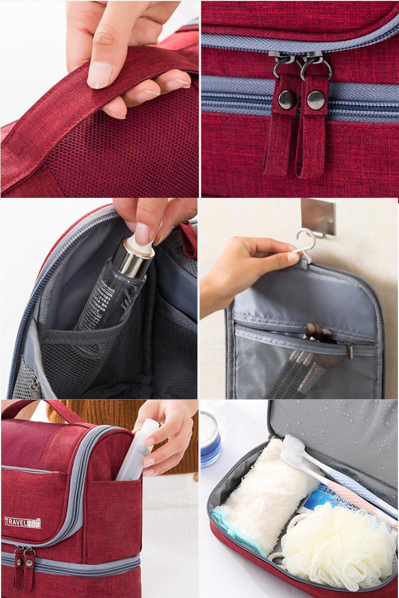 Hot Sale Factory Custom Portable Hanging Organizer Travel Waterproof Bag  Makeup  Toiletry Bag
