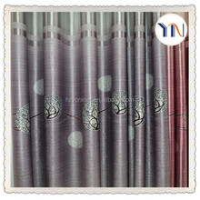 Suede printed ready made blackout curtain fabric for home deco