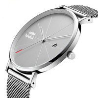 2018 Hot Selling Clock Chinese made new coming quartz Ultra-thin mesh simple men fashion quartz watches