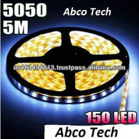Cool White 5M 5050 SMD Flexible LED Strip Light 150 LEDS 12V