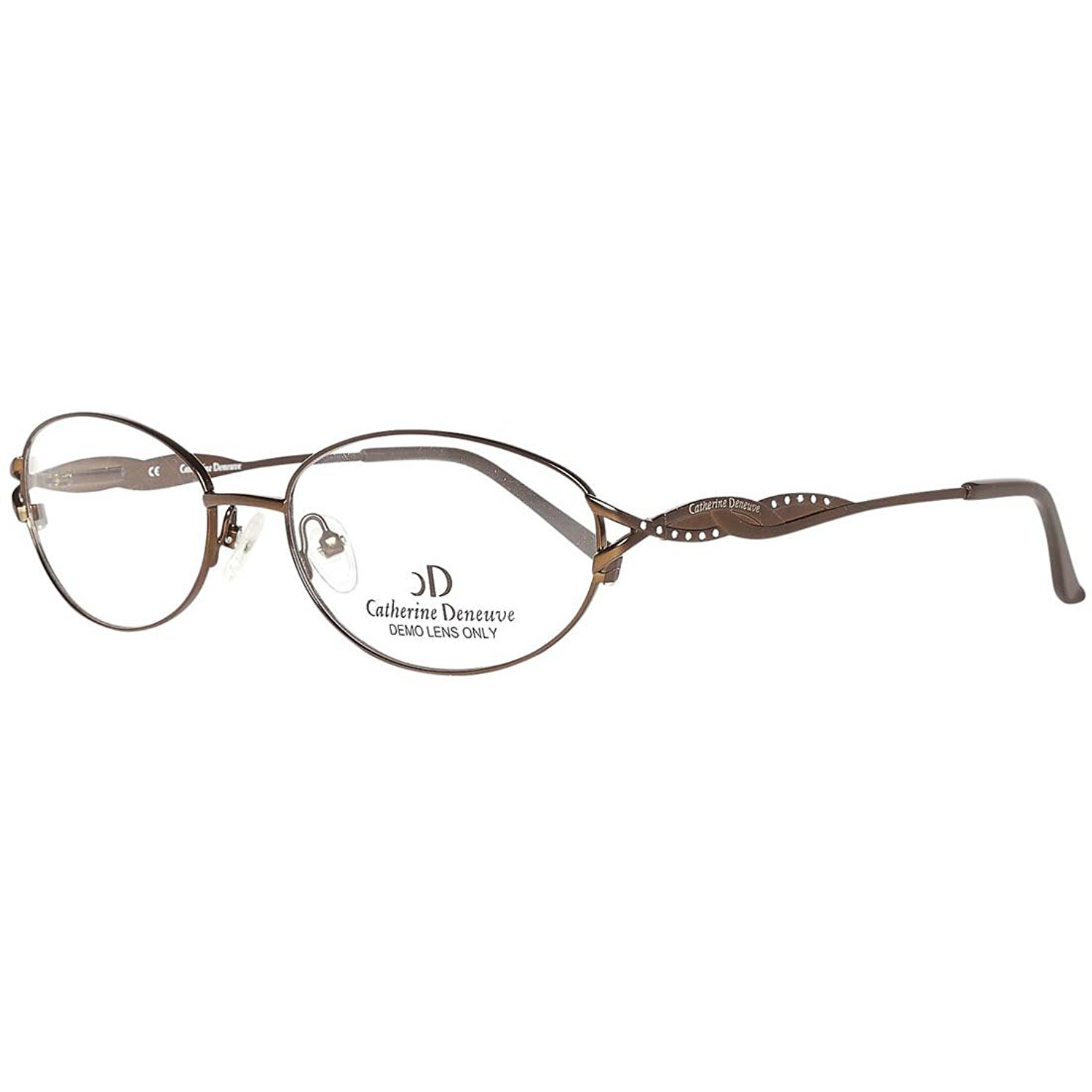 622c1e5974b3 CATHERINE DENEUVE CD-297 Eyeglasses Satin Brown Demo Lens 53-17-135