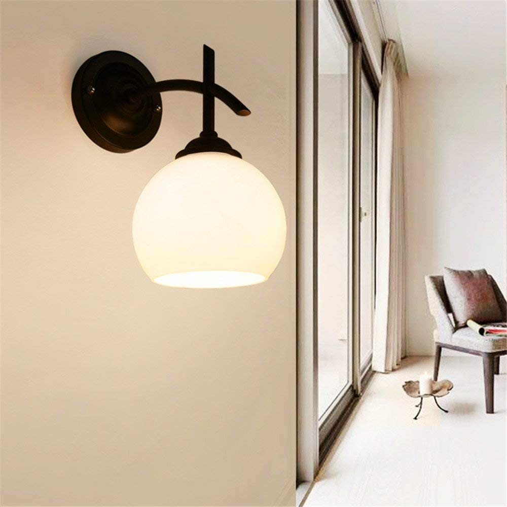 Baron W.H Wall lamp creative wall lamp room bedside glass wall lamp simple TV background wall glass wall lamp corridor wall lamp