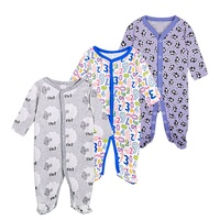 Redkite New Arrive Onesuit Organic Cotton Infant Clothes Baby Footed Pajamas
