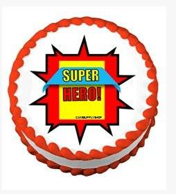 CakeSupplyShop Item#24521 Boy's Super Hero Theme Edible Cake Decoration Topper