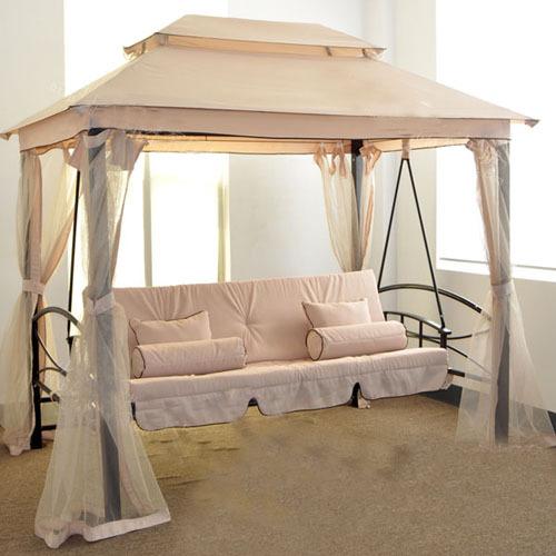 suofei luxus outdoor schaukel bett zelt pavillon garten doppel h ngematte wasserdicht bett netto. Black Bedroom Furniture Sets. Home Design Ideas