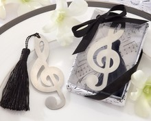 Stainless steel music notes bookmark wedding souvenir gift