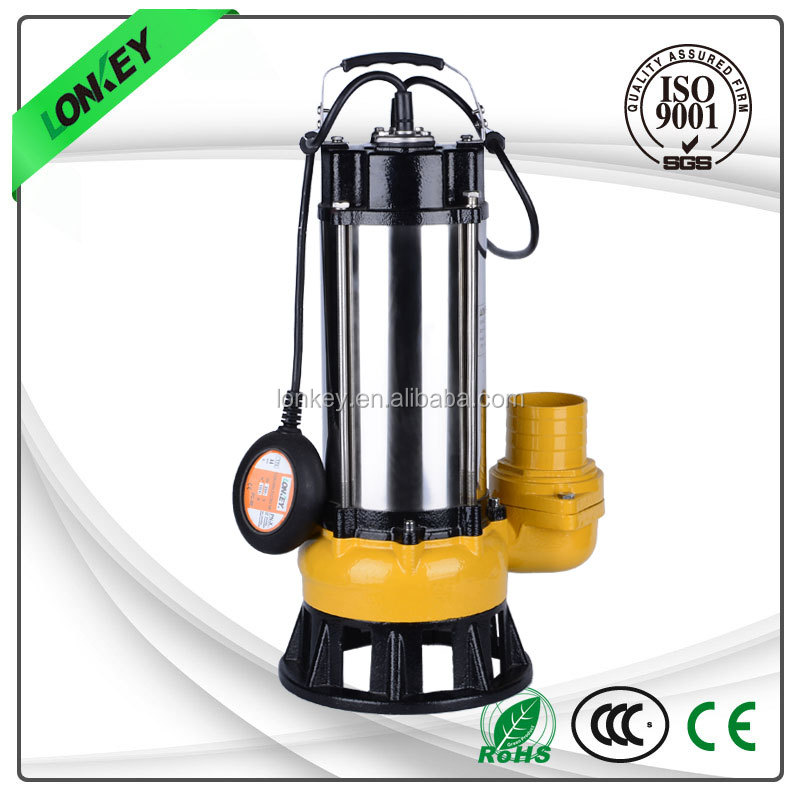 "V-2200F Stainless Steel Sewage Submersible Pump, 3"" sewage submersible pump"