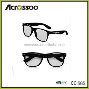 Promo black plastic custom wholesale polarized sunglasses clear lens