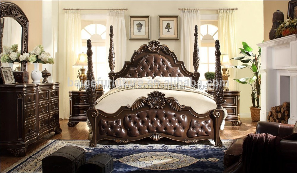 Bd-1201 chine mobilier de chambre lit king size modèles-Ensembles de ...