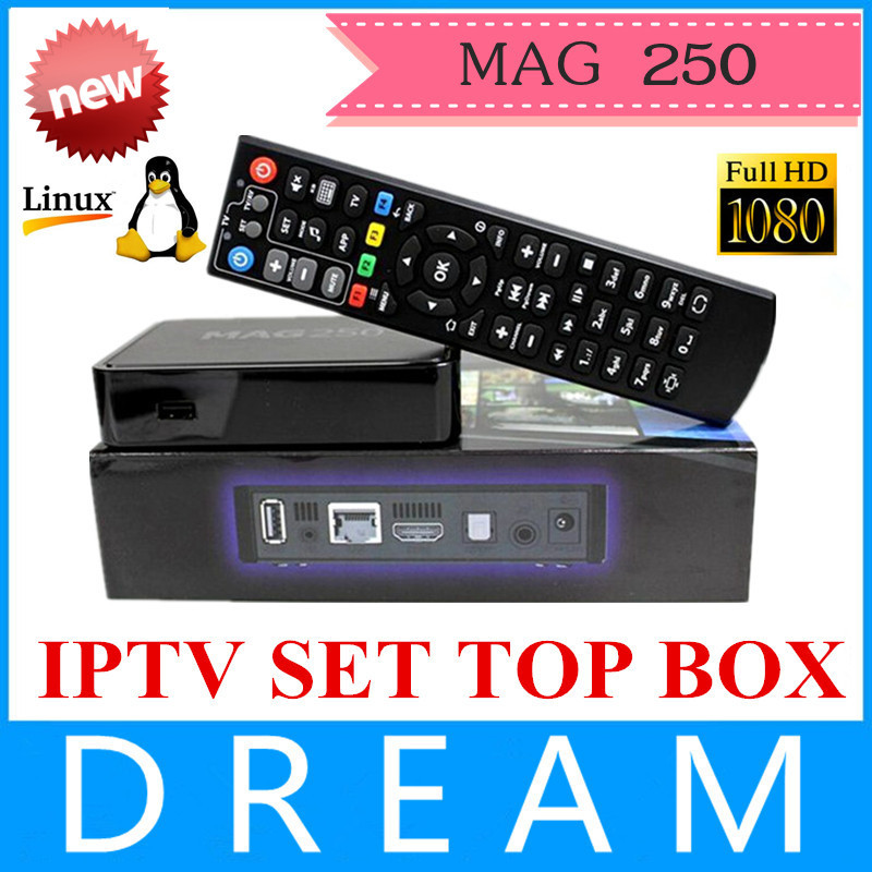 2015 New Mag250 Linux 2.6.23 System IPTV Set Top Box Processor STi7105 RAM 256