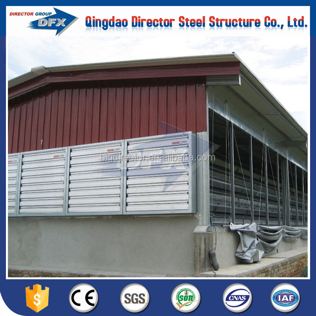 Prefabricated Steel Fast Construction Broiler Poultry Farm Shed