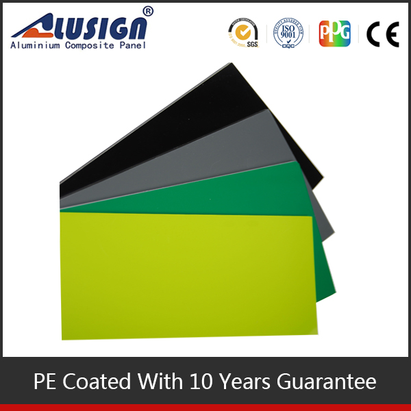 pe acm sheets outdoor sign board material mouse grey 3mm flame retardant board