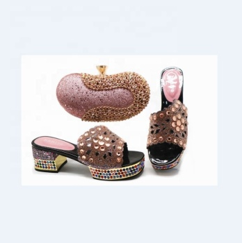 AB5816  fashion woman matching Italian shoe and bag set/ shoes and bag