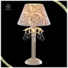 Indoor decorative lighting classic fabric shade reading light crystal table light