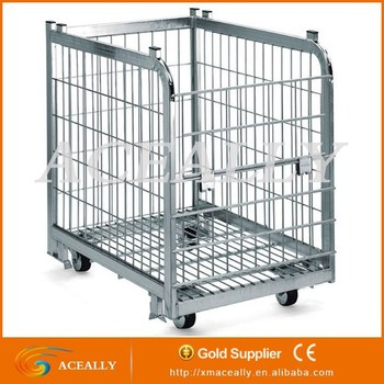 Wire Mesh Containers   Steel Stacking Bins Collapsible Wire Mesh Container Buy Wire Mesh