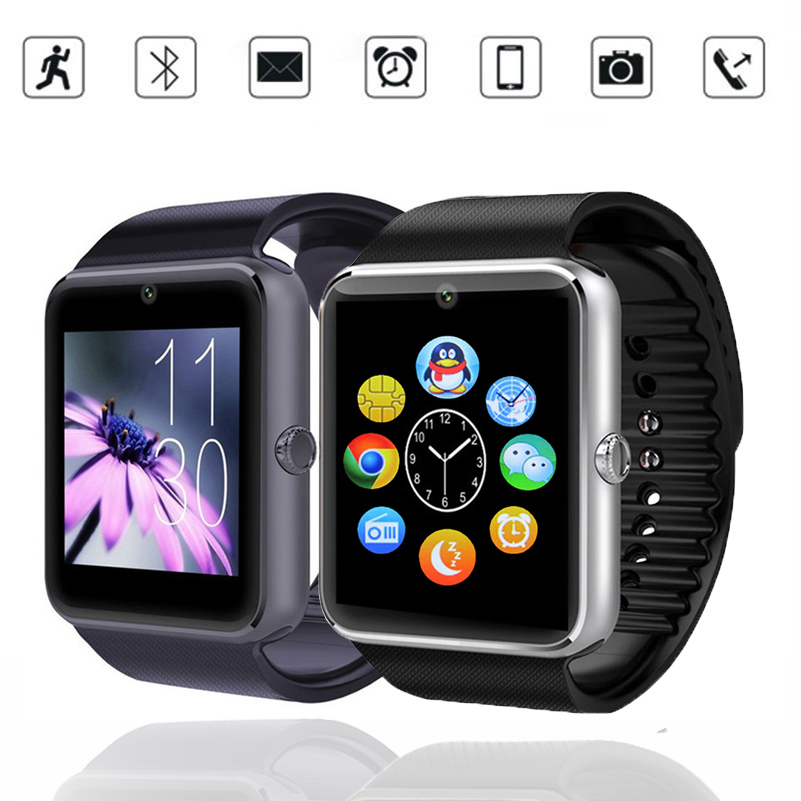 New Smart Watch GT08 Clock Sync Notifier Support Sim Card Bluetooth
